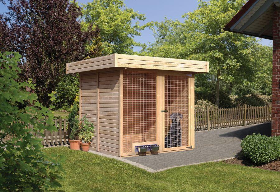 karibu hundezwinger 1. Black Bedroom Furniture Sets. Home Design Ideas