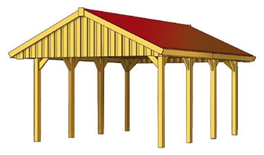 carport sauerland 430 x 600 cm mit dachlattung 321551. Black Bedroom Furniture Sets. Home Design Ideas