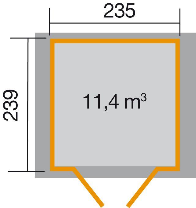 weka gartenhaus 224 gr 4 21 mm. Black Bedroom Furniture Sets. Home Design Ideas