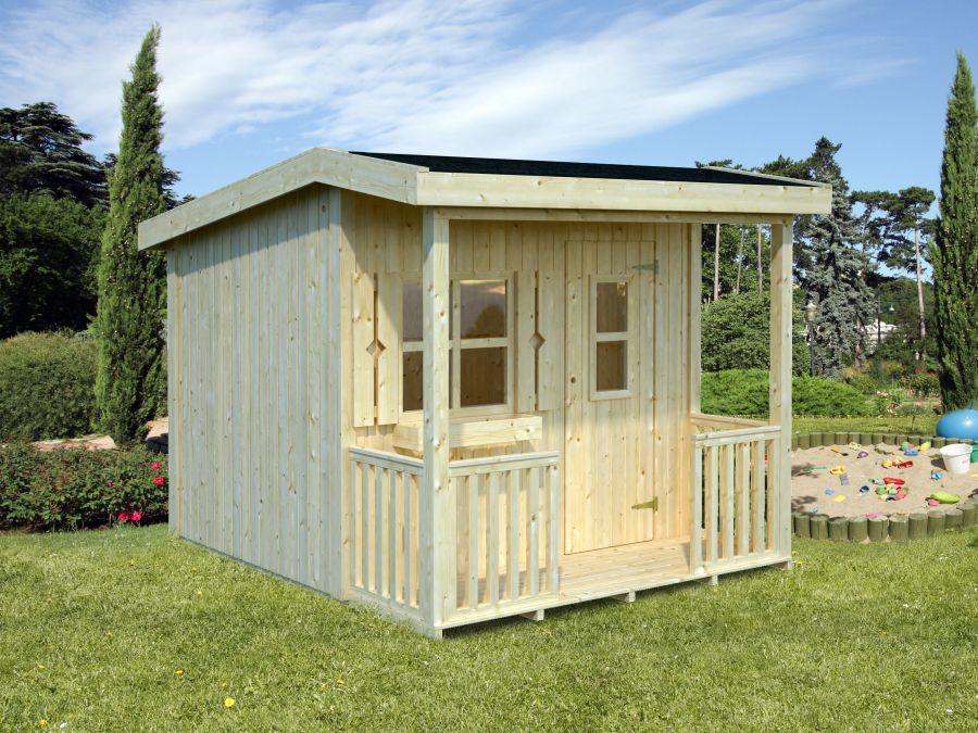 palmako kinderspielhaus aksel 3 1 m. Black Bedroom Furniture Sets. Home Design Ideas