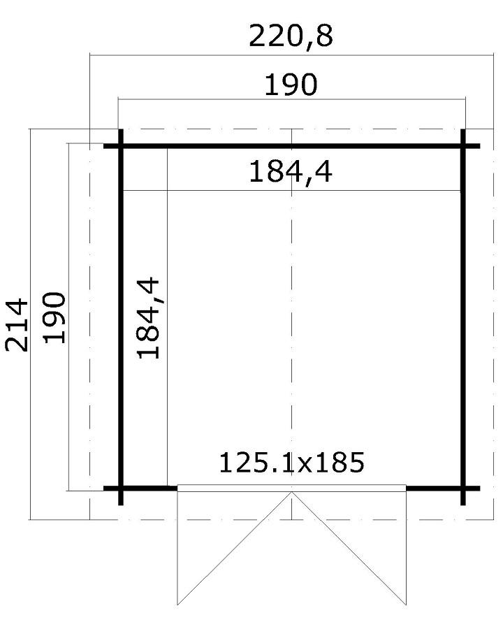 lasita maja gartenhaus morava b 2810650. Black Bedroom Furniture Sets. Home Design Ideas
