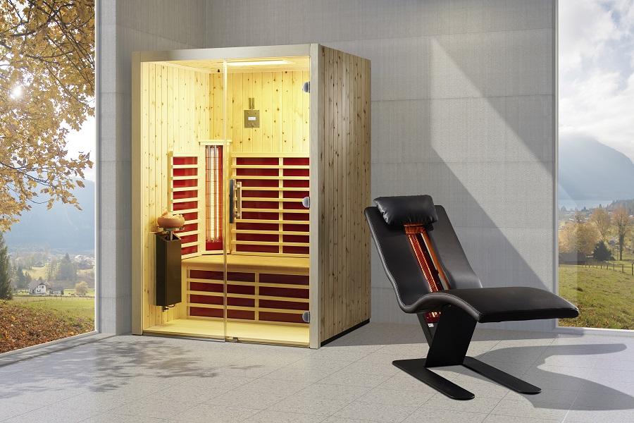 infraworld infrarotkabine triosol glas 145 zirbe 390128. Black Bedroom Furniture Sets. Home Design Ideas