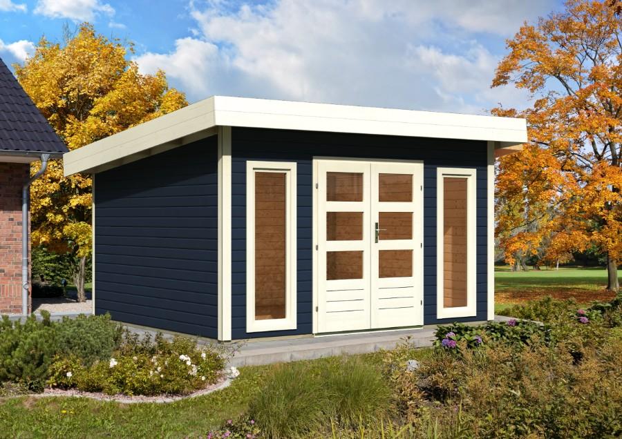 karibu gartenhaus lucca 1 2 mit schleppdach. Black Bedroom Furniture Sets. Home Design Ideas