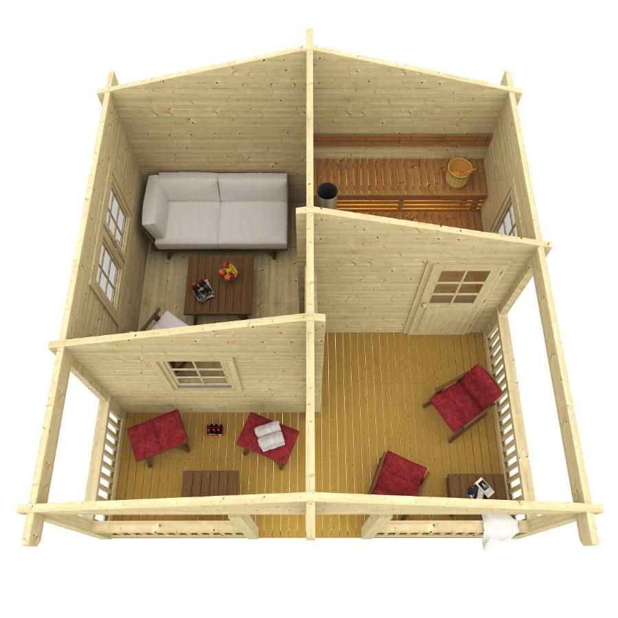 saunahaus otto 70. Black Bedroom Furniture Sets. Home Design Ideas