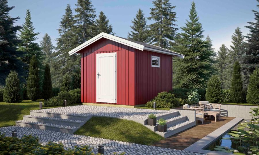 lasita maja gartenhaus nordic 8. Black Bedroom Furniture Sets. Home Design Ideas