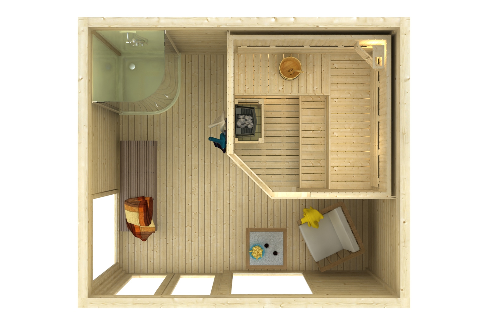 design saunahaus cubus 4035. Black Bedroom Furniture Sets. Home Design Ideas