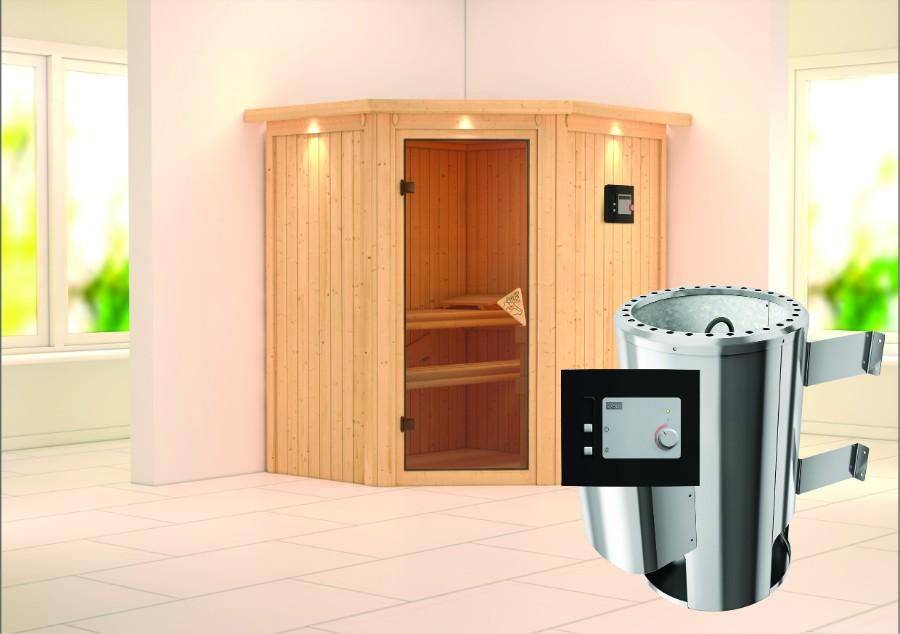 karibu sauna innenkabine tonja. Black Bedroom Furniture Sets. Home Design Ideas