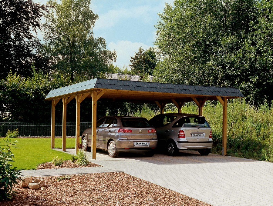 Carport spreewald 585 x 589 cm for Baumarkt carport