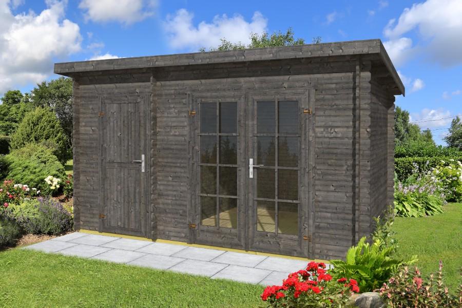 flachdach gartenhaus belmont 1 2. Black Bedroom Furniture Sets. Home Design Ideas